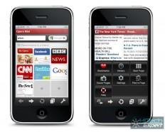 Opera Mini неплохо смотрится на iPhone
