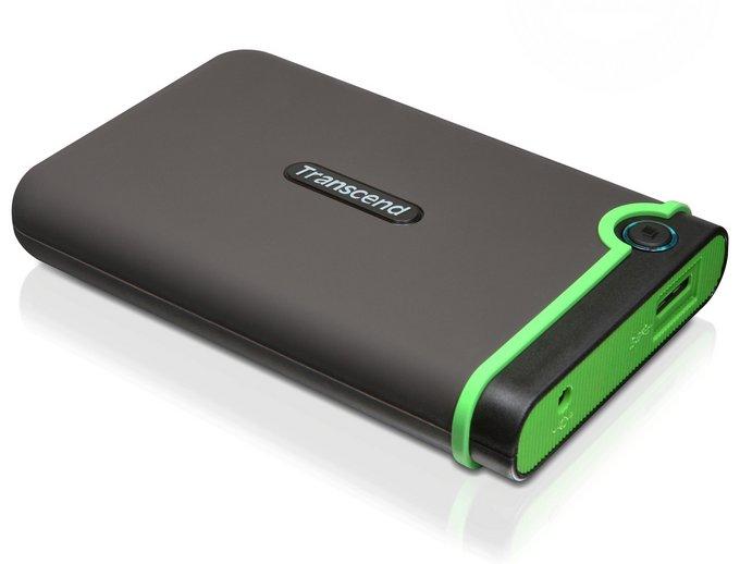 Transcend StoreJet 25M3 - сверхпрочный 2,5-дюймовый портативный жёсткий диск