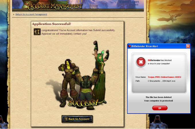 Последний штрих обманной схемы на World of Warcraft