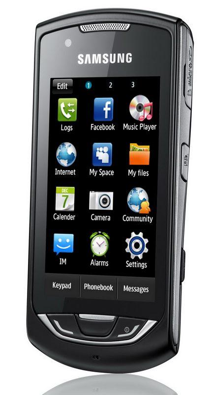 Samsung S5620 Monte - удобное меню