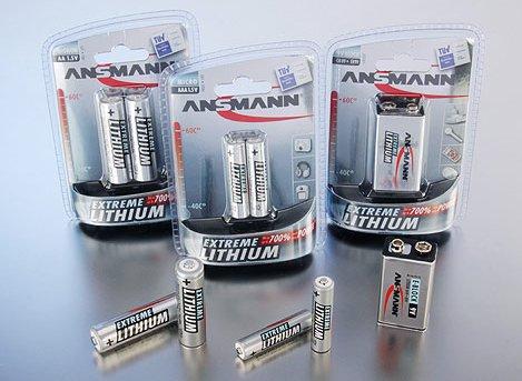 ANSMANN предлагает литиевые батареи размера Micro AAA, Mignon AA и 9V Block