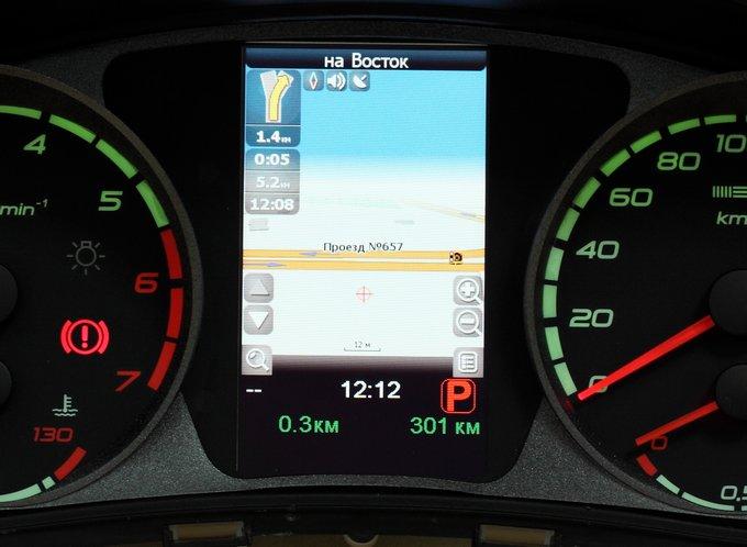 ГЛОНАСС-GPS навигация в Ладе – интеграция экрана в комбинацию приборов
