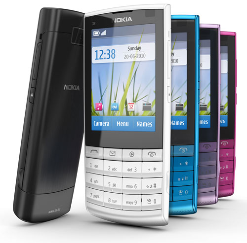Nokia X3 Touch and Type – сенсорный экран плюс клавиатура