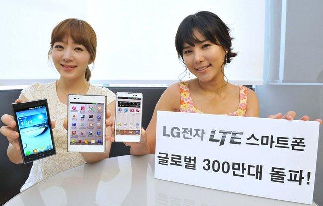 LG продала уже 3 миллиона LTE-смартфонов