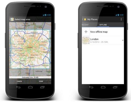 Карты Google оффлайн