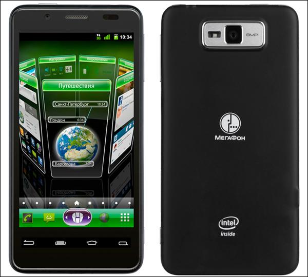 смартфон на базе Intel Atom