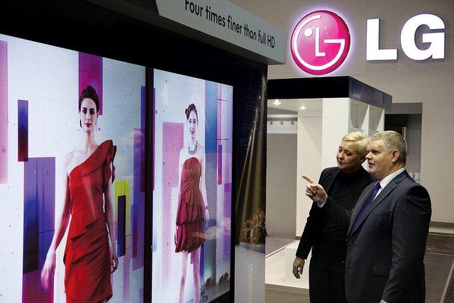 LG показала большие 3D, мультисенсорные и прозрачные дисплеи