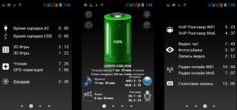 Тест батареи Lenovo A390