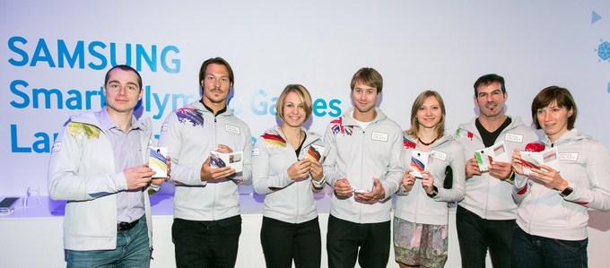олимпийцы получили Samsung GALAXY Note 3 - официальный смартфон Сочи-2014