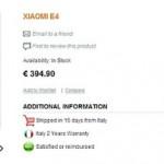 В Европе начался приём предзаказов на Xiaomi Mi 4