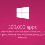 В Microsoft Windows Phone Store уже более 300 тысяч программ