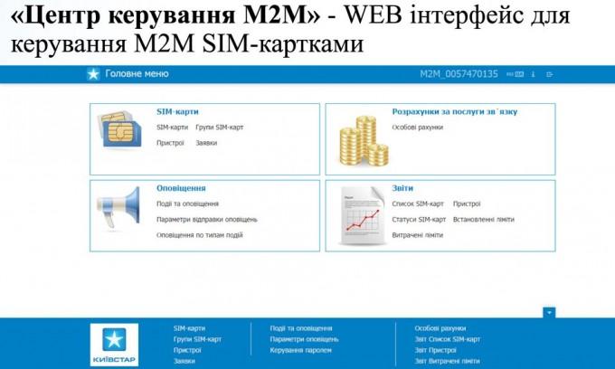 Центр управления М2М