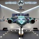 Украинские самолеты демонстрируются на выставке