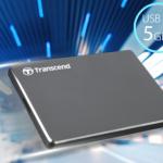 В продаже появился тонкий накопитель Transcend StoreJet 25C3