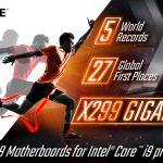 Большинство ОС-рекордов принадлежит платформе GIGABYTE X299