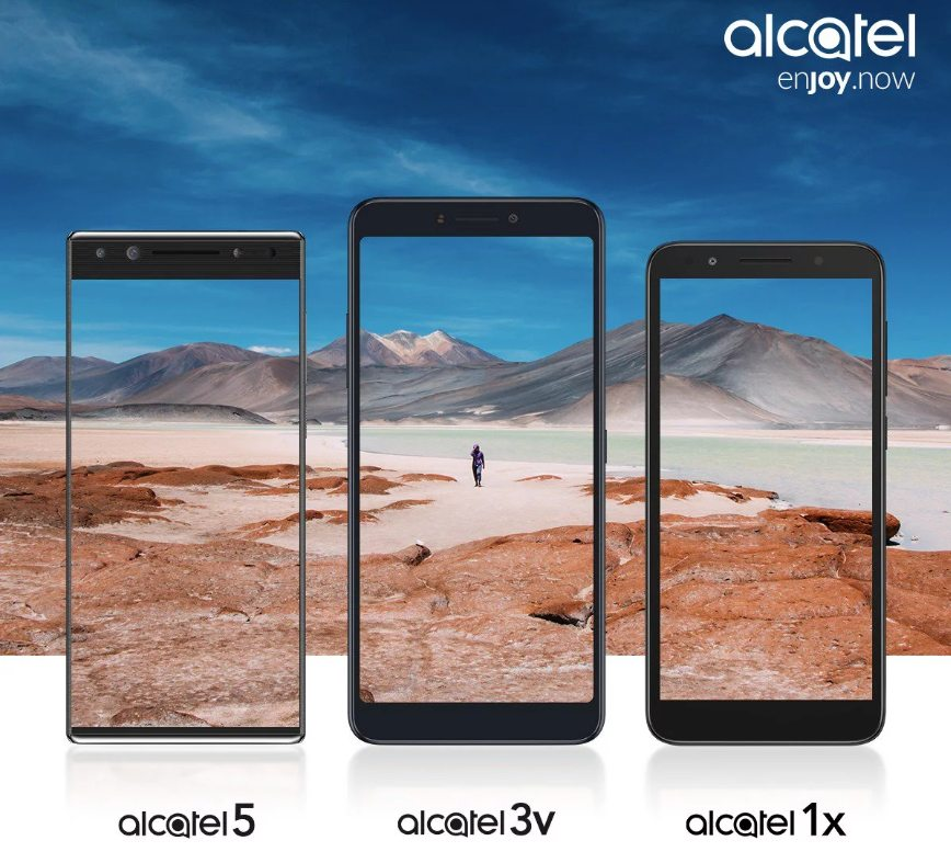 Alcatel 5, Alcatel 3v иAlcatel 1x покажут наMWC 2018