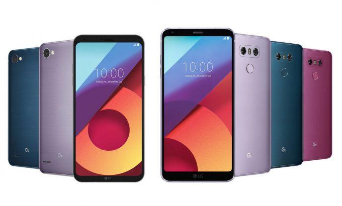 LG G6 и Q6 цвета