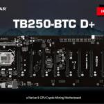 BIOSTAR показала майнинговую материнскую плату TB250-BTC D+ на 8-GPU без кард-райзера