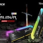 Team Group выпустила игровую память DDR4 с подсветкой T-FORCE XCALIBUR