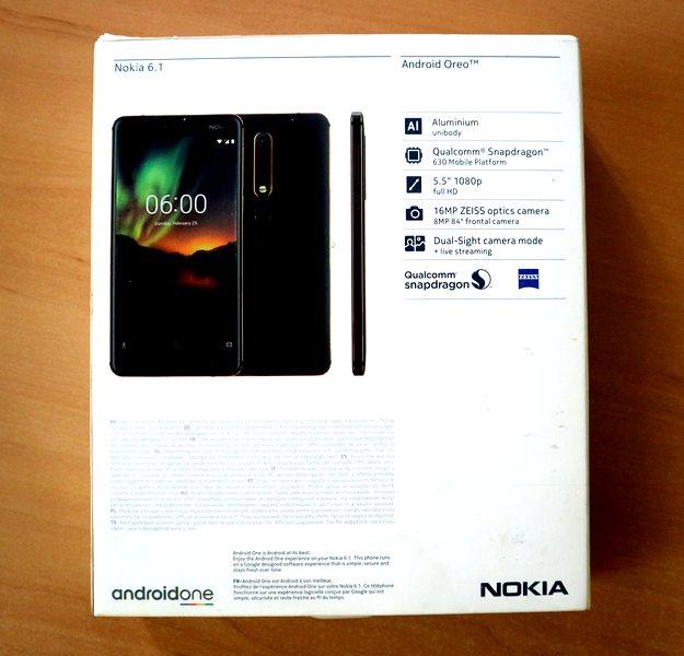 Nokia 6.1 коробка